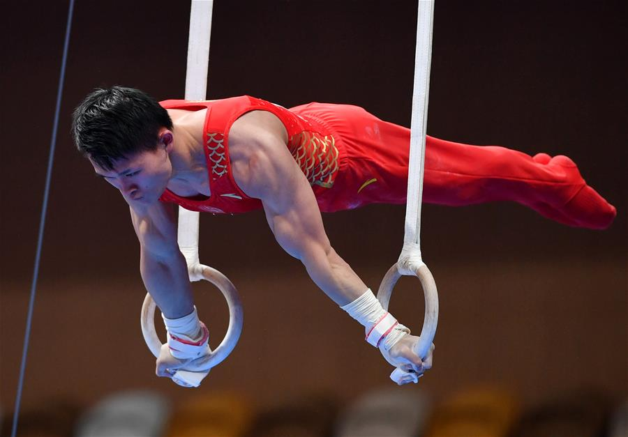 體操——全國冠軍賽:男子吊環決賽賽況