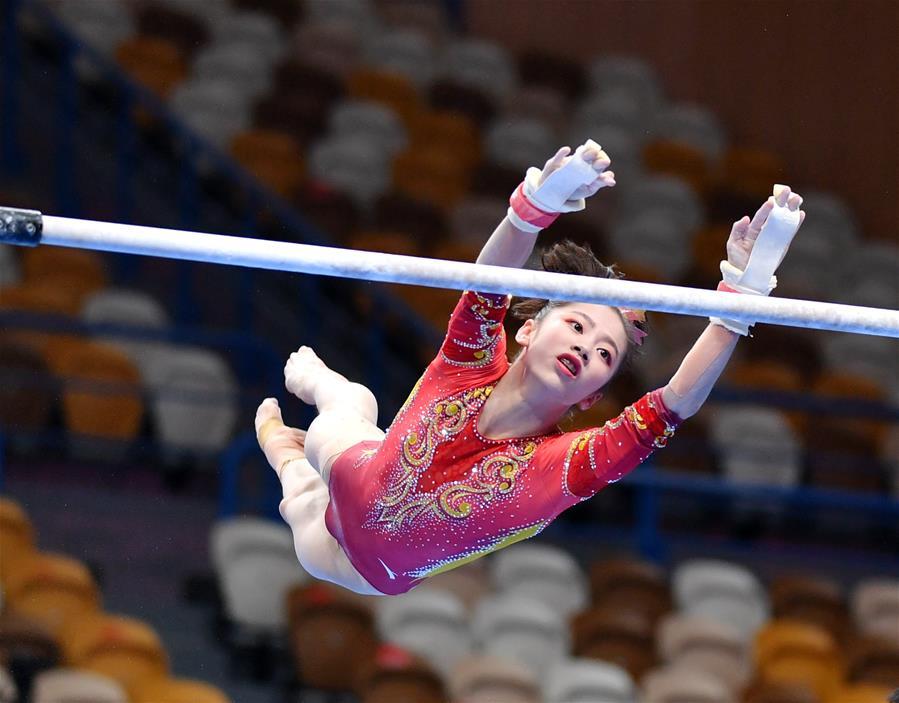 體操——全國冠軍賽:女子高低杠決賽賽況