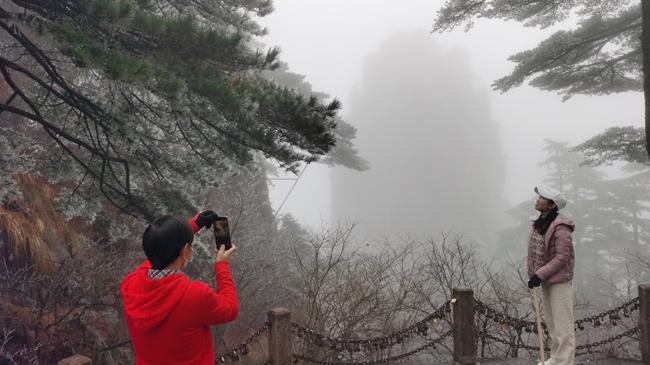 微視頻:黃山迎來今冬首場霧凇
