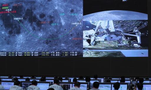 我國首次實現月球軌道交會對接 嫦娥五號完成在軌樣品轉移