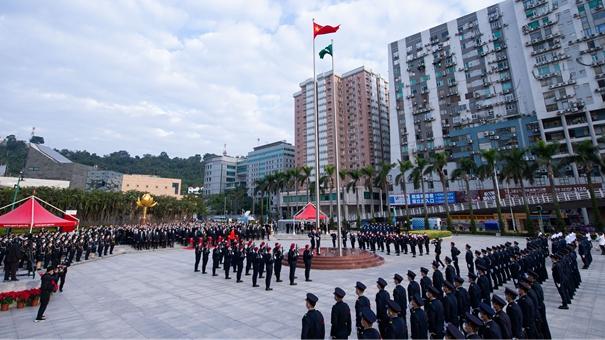 澳門舉行升旗儀式慶祝澳門回歸祖國21周年