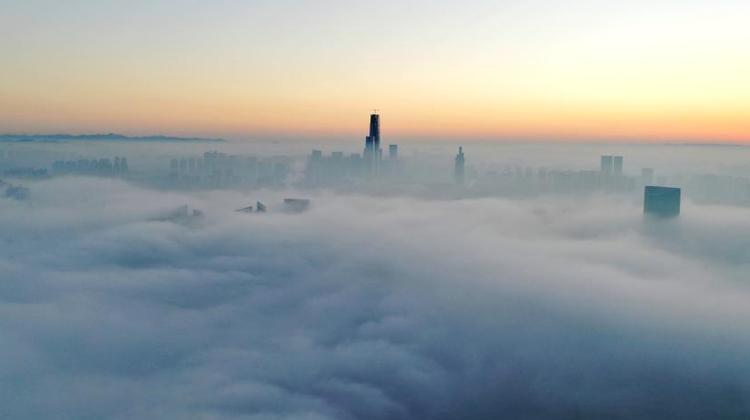 貴陽出現大霧天氣