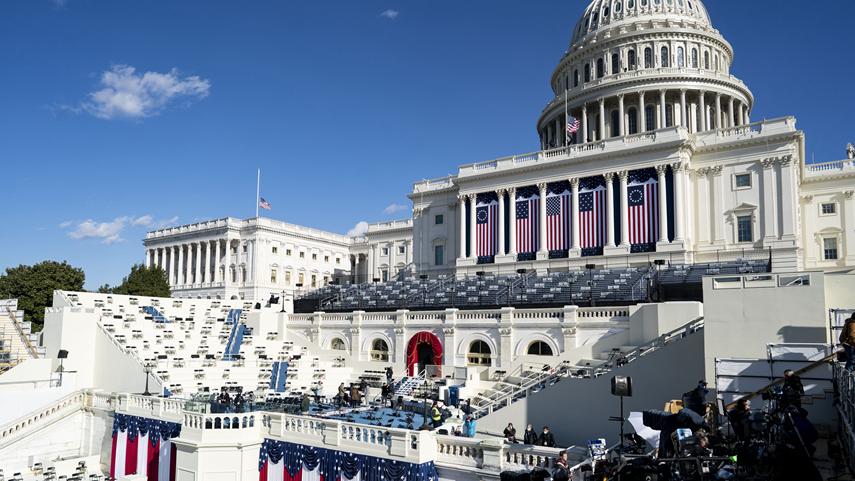 美國總統就職儀式準備就緒