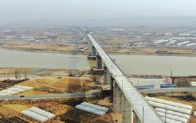 中蘭客專靖遠黃河特大橋順利貫通