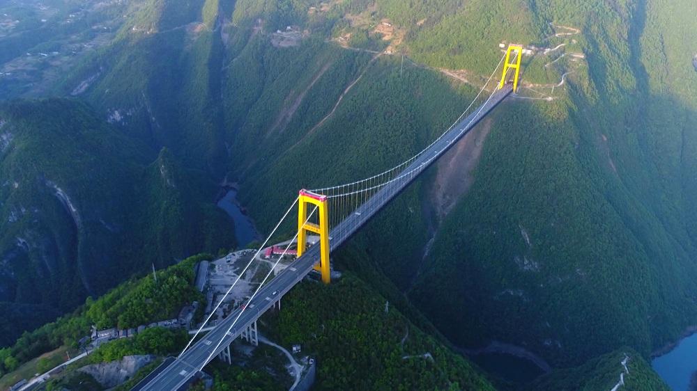 沿著高速看中國丨超級工程 天路之橋