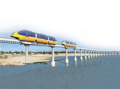全國首列淺海單軌觀光旅遊列車運營