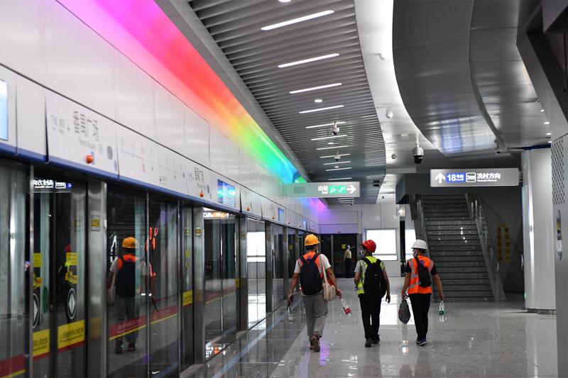 """圖集 """"大灣區最快地鐵""""開通在即,建設者做最後的衝刺準備"""