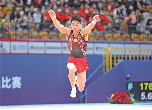 全運會體操男子預賽結束 廣西男隊晉級團體決賽