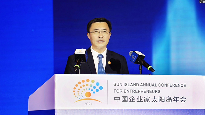 張聯東出席太陽島年會:中國企業家應不斷努力讓大夢輝煌,讓小夢多彩