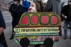 美國舊金山:民眾抗議驅逐海地難民