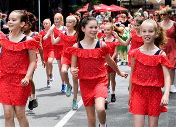 新西蘭惠靈頓舉行迎聖誕遊行