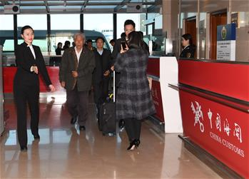 滯留印度的王琪老人順利回國