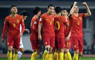 世預賽:中國隊戰勝韓國隊