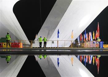 濰日高速公路轉體橋成功轉體