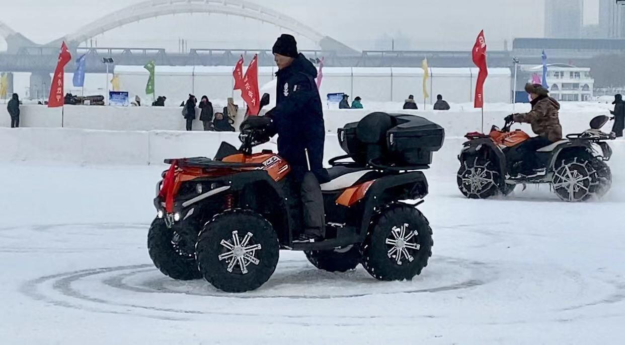 冬趣:玩轉哈爾濱——雪上漂移