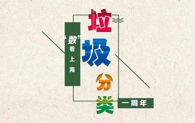 """""""數""""看上海垃圾分類一周年"""