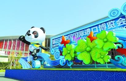 第三屆進博會場館綠化基本成型 展現中國錦繡繽紛自然美