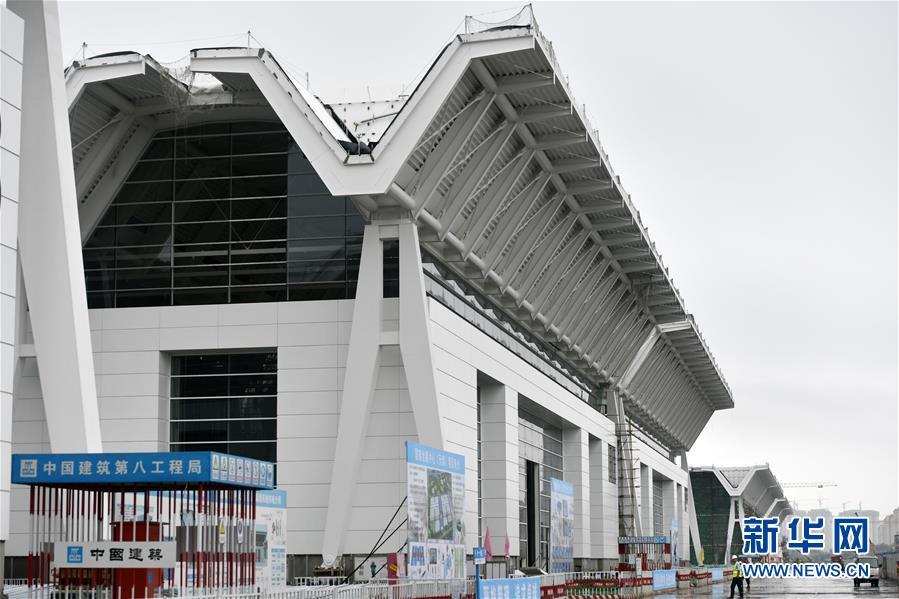 (經濟)(1)天津國家會展中心一期項目主體結構建設完成