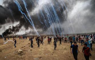 巴以衝突致千余名巴勒斯坦人受傷