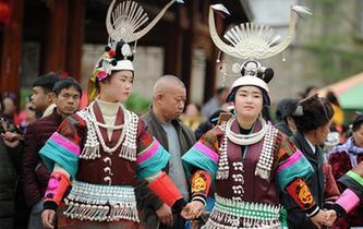 貴州凱裏:蘆笙舞步鬧新春
