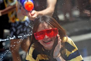 泰國慶祝潑水節