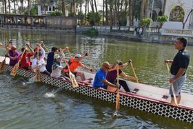 一帶一路·好夥伴丨尼羅河上劃龍舟
