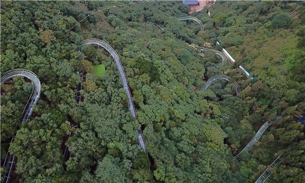 8月24日,西游洞风景区新修建的玻璃丛林漂流项目正式对外开放.